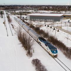 Amtrak departing Montreal