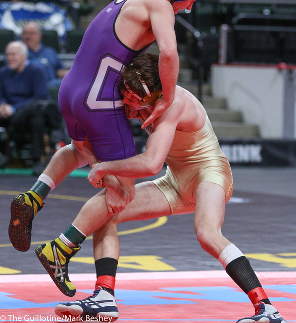 152A 3rd Place Match - Cole Vanoverbeke (Minneota) 39-11 won in sudden victory - 1 over Mason Huemann (Goodhue) 39-7 (SV-1 4-2) - 180303bmk0079