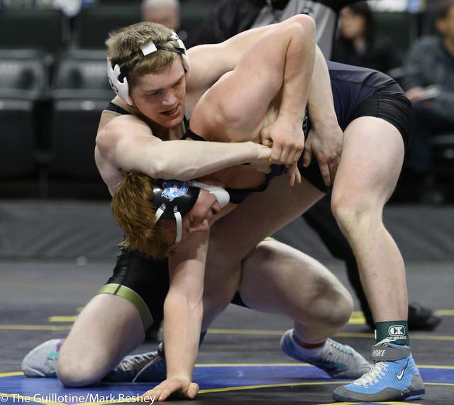 160A 1st Place Match - Zach Schneider (Caledonia-Houston) 37-3 won by decision over Colton Krell (Westfield Razorbacks) 38-4 (Dec 9-2) - 180303cmk0286