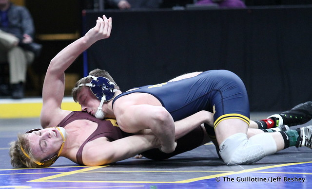 3rd Place Match - Kenny O'Neil (Prior Lake) 32-4 won by decision over Grant Parrish (Forest Lake) 46-8 (Dec 5-2). 180303BJF0280