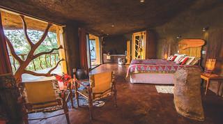 Luxury cave interior