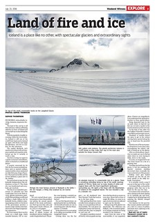Sophie Thompson Iceland Page One