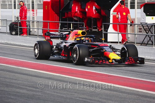 Max Verstappen during Formula One Winter Testing 2018