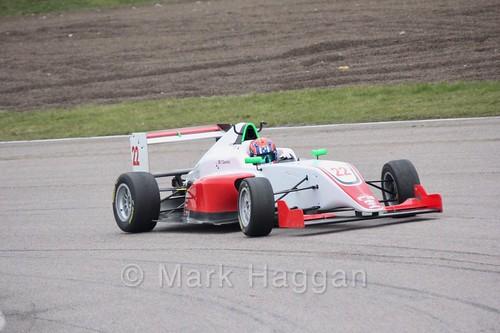 Tom Gamble in British F3 pre-season testing 2018
