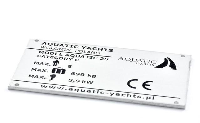 Tabliczka znamionowa aluminium anodowane i emalia