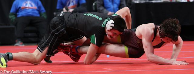 Quarterfinal - Garrett Ploeger (Pipestone Area) 36-7 won by decision over Michael Nelson (Dover-Eyota) 34-6 (Dec 11-5) - 180302cmk0054