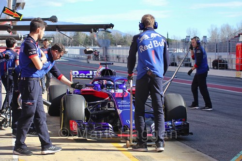 Pierre Gasly in Formula One Winter Testing 2018