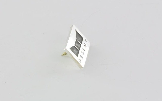 pins srebro 925, grawerowane logo