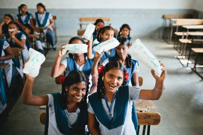 India's first biodegradable sanitary pad and sustainable social enterprise  provides hygiene products and education to girls and employment to women