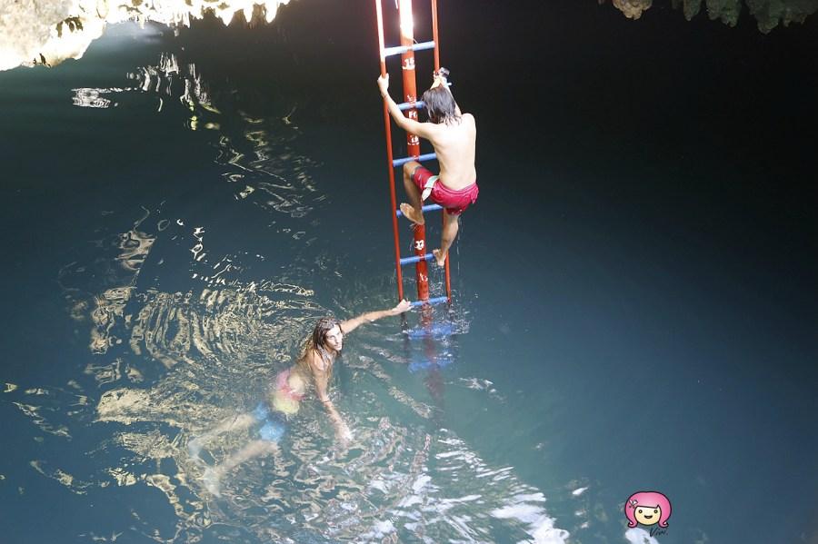 [薄荷島景點]Bohol,Anda區熱門旅遊景點│Quinale Beach午餐時間~冒險Cabagnow Cave Pool一躍而下跳入海水之中 @VIVIYU小世界