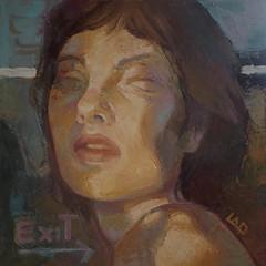 Exit, olio su tela, 30x30 cm, 2018