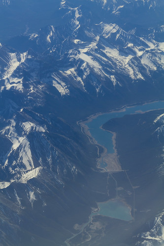 Rocky mountains from above