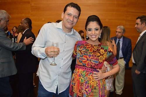 André e Raquel Faria, que apresentou lindamente a solenidade