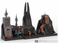 Lego Star Wars - Mustafar Skyline MOC
