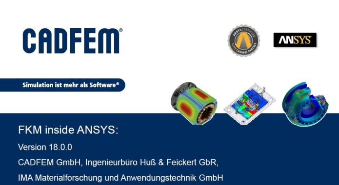 Cadfem FKM inside ANSYS v18 for ANSYS 17.2-18.1 full