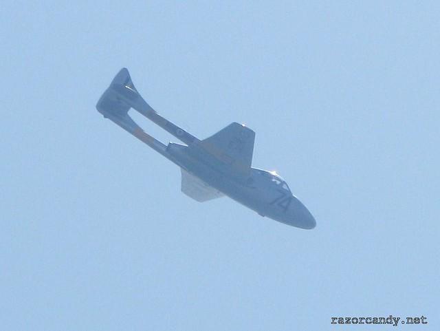 1 IMG_2203 de Havilland DH.100  Vampire T11 {WZ507} _ Southend - 2009 (24th May)