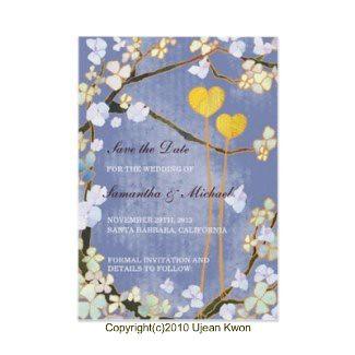 Two Hearts: Custom Wedding Save-the-Date Invitation