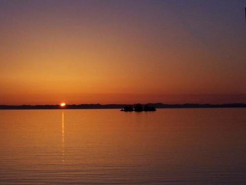Shag Rock, Whiteway - Sunset