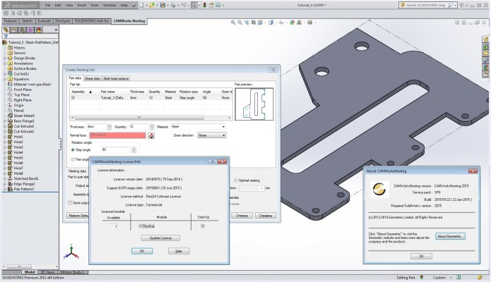 CAMWorks Nesting 2015 SP0.0 Win64 for SolidWorks 2015 full