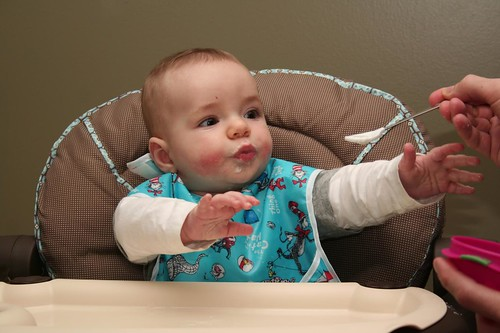 """first """"solid"""" food."""