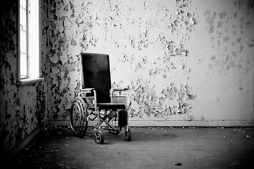 Wheelchair in the corner by Davidap2009