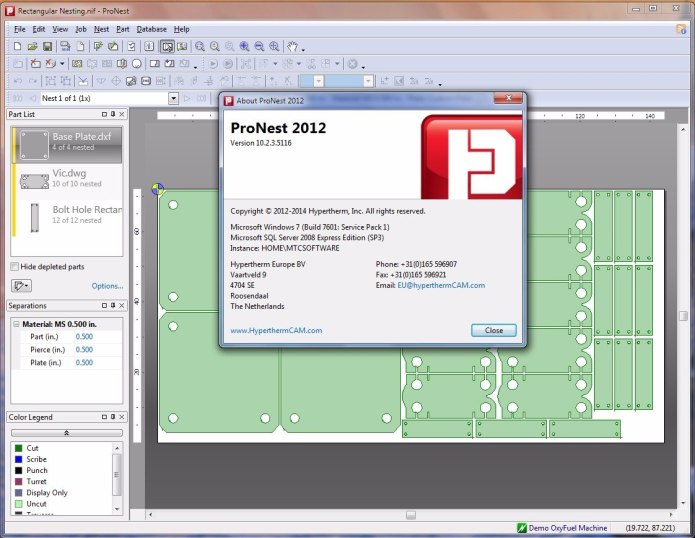 Working with ProNest 2012 full license