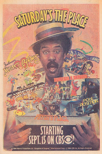 CBS Saturday morning cartoons ad, 1984