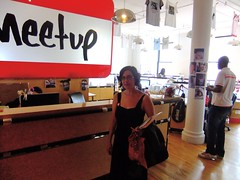 Harvest Employee and NYC Walkabout Organizer Karen Schoellkopf at Meetup Offices Internet Week NY 2010 #iwny