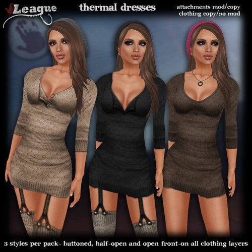 *League* Thermal Dresses & Gartered Stockings