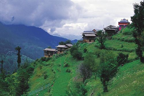 Shoja Village, Himachal Pradesh, India