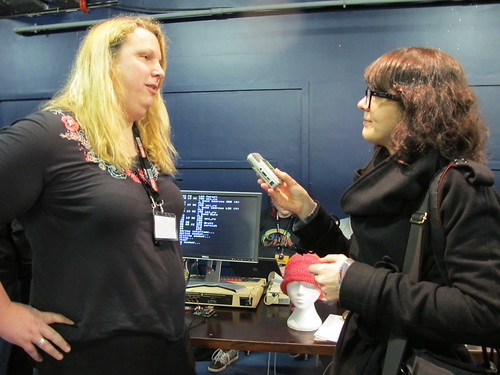 Cyberspice being interviewed by Jamillah