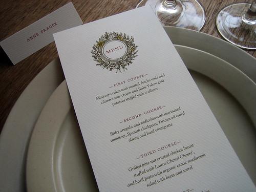 Monogram printable wedding menu