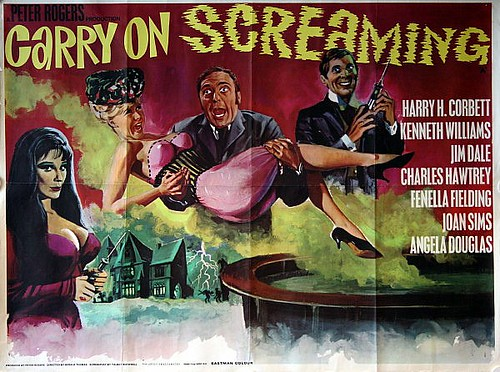 Carry On Screaming    Original 1966 UK Quad Film Poster - Tom Chantrell Artwork
