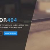 Smart 404 Error Page Free Widget.