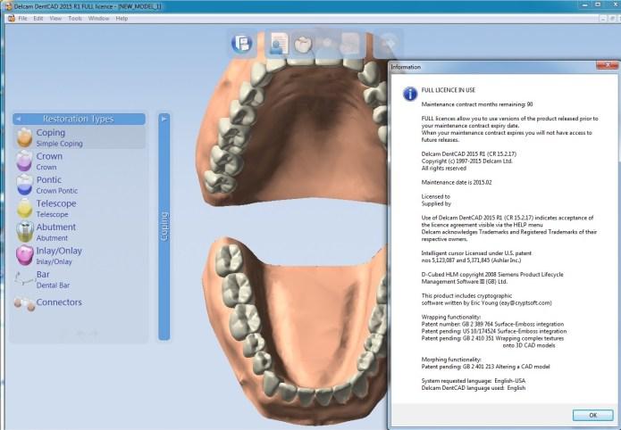 Design with Delcam DentCAD 2015 R1 32bit 64bit full license