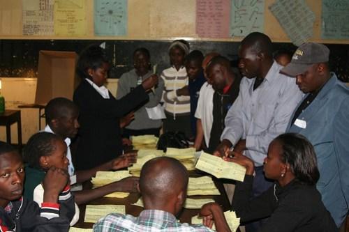 Counting--Election Day 2007 Nairobi, Kenya