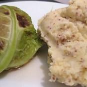 Stuffed cabbage and mustard mashed potatoes