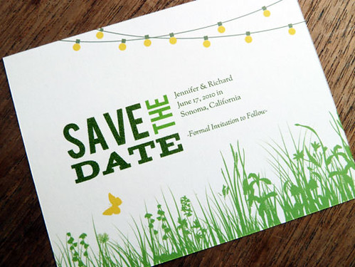 Printable Save the Date - Garden Party