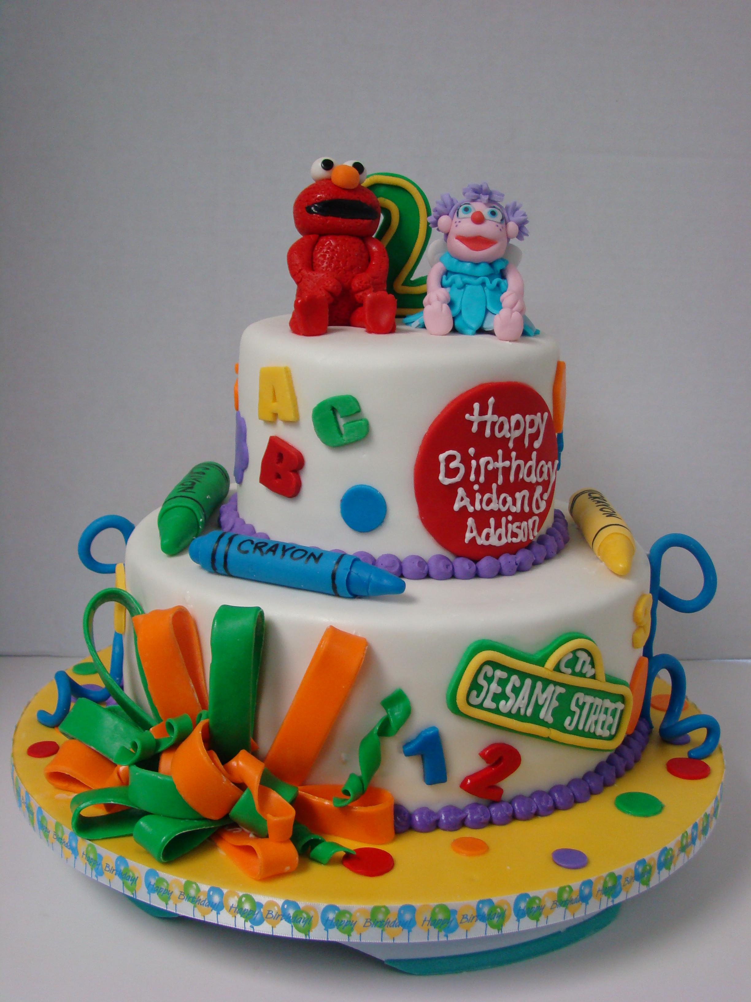 Elmo And Abby Birthday Cake Flickr