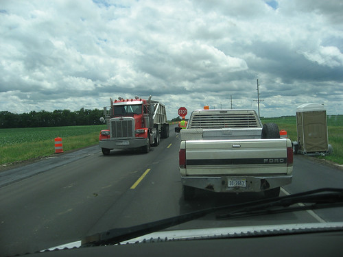 Road construction...