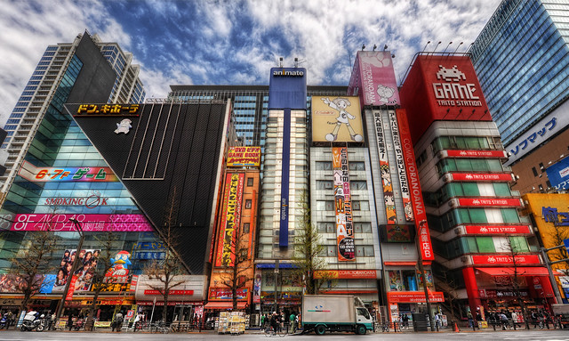 (Akihabara Street in Tokyo, a centre of high technology, photographed by Trey Ratcliff)