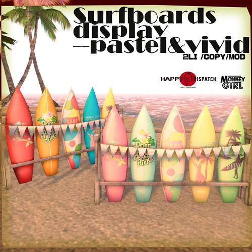 [HDxMG]Surfboards display ad