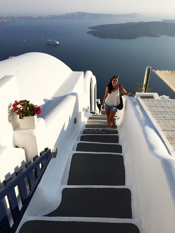 · Escaleras laberínticas en Imerovigli, Santorini ·