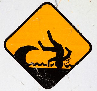 Beware of trip hazards caused by speeding sharks