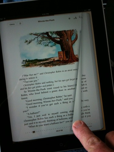 Turning a page on the iPad - the beginning to the end of the mouse as the primary ostension mechanism