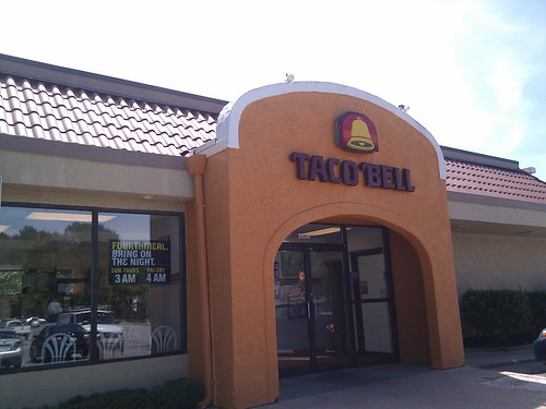 First stop, Taco Bell