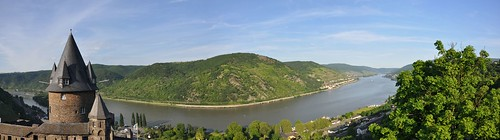 panoramic from Bacharach Castle