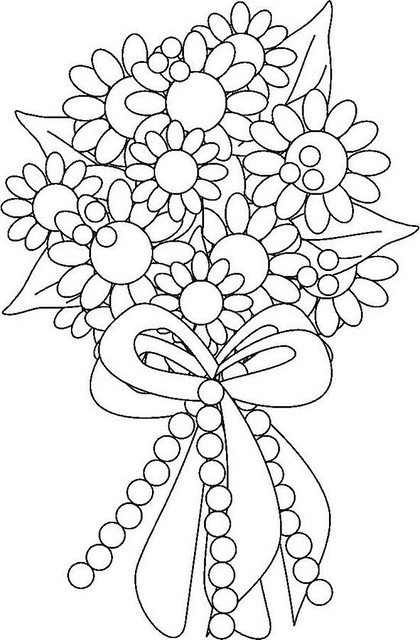 bouquets of flowers colouring pages