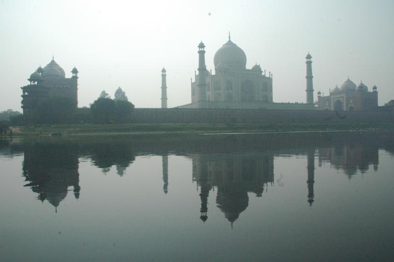 Empires flourished on the banks of rivers. Taj Mahal, Agra, India