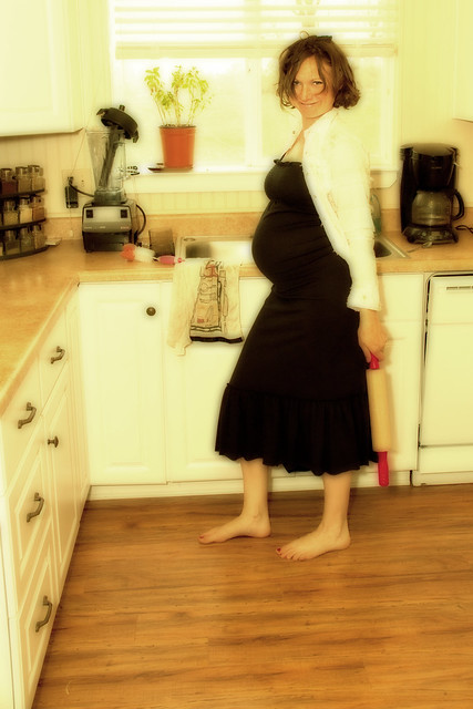 Barefoot And Pregnant In The Kitchen Flickr Photo Sharing